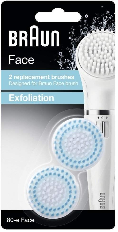 Braun 80-e Face Exfoliation 2 Pack of Brush