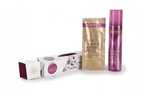 Click to view product details and reviews for Sienna X Silver Shimmer Spray Instant Glamour Glow Christmas Cracker.