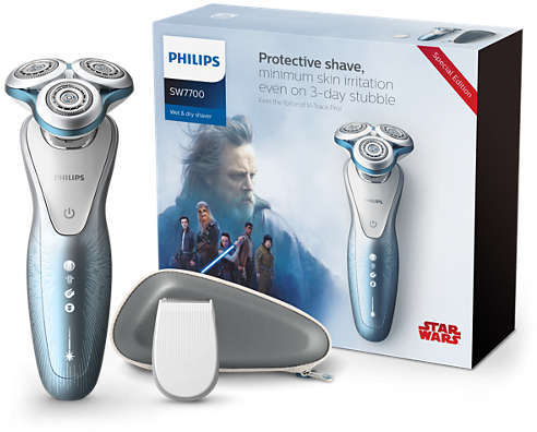 Shavers.co.uk Philips SW7700/67 Special Edition Light Side Men's Electric Shaver