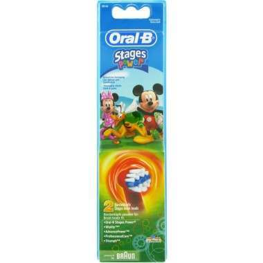Oral-B EB10-2  Mickey & Minnie 2 Pack Toothbrush Heads