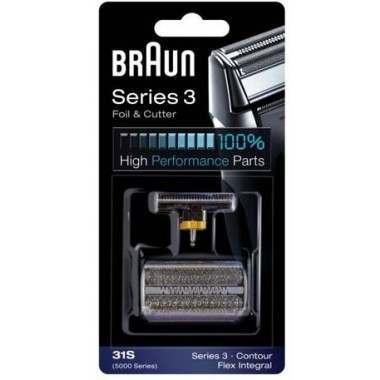 Braun 31S, 5000, 6000 Silver Foil & Cutter Pack
