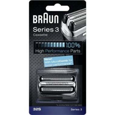 Braun 32S Series 3 Silver Cassette Foil & Cutter Pack