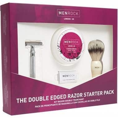 Men Rock MRDEGP The Double Edged Razor Shaving Start Up Kit