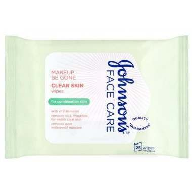 Johnsons TOJOH553 Clear Skin Face Wipes