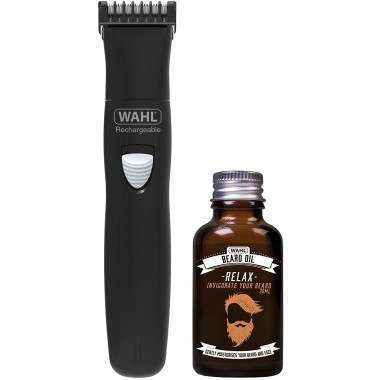 Wahl 9865-805 Beard Trimmer & Beard Oil Gift Set