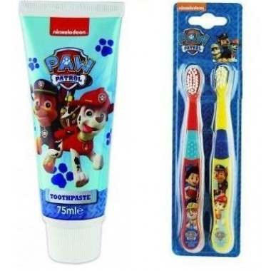 Paw Patrol Toothpaste + Twin Pack Toothbrush Heads Gift Set
