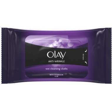 Olay 81497763 Anti-Wrinkle 20 Cleansing Wipes