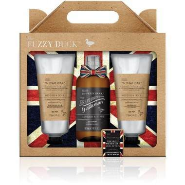 Bayliss & Harding BHFDGL183P Fuzzy Duck Men's Ginger and Lime Grooming Trio Gift Set