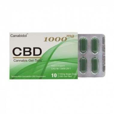 Canabidol CBD20011 1000mg Cannabis Gel-Tabs