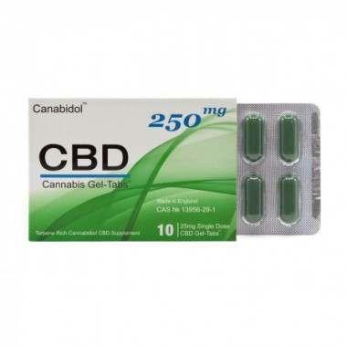 Canabidol CBD22501 250mg Cannabis Gel-Tabs