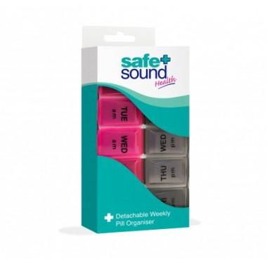 Safe + Sound SA8406 7 Day Detachable Pill Box Set