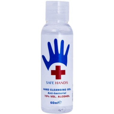 Safe Hands TOSAF005A 60ml 70% Alcohol Hand Sanitiser