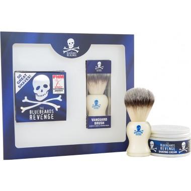 The Bluebeards Revenge BBRSCVNK Shaving Cream & Vanguard Brush Gift Set