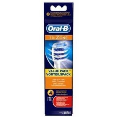Oral-B EB30-4 4 Pack TriZone Toothbrush Heads