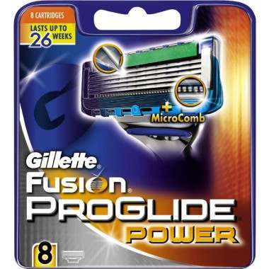 Gillette 81694860 Fusion ProGlide Power Pack of 8 Blade Pack