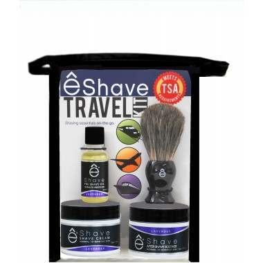 êShave 44115 Lavender TSA Approved Travel Kit