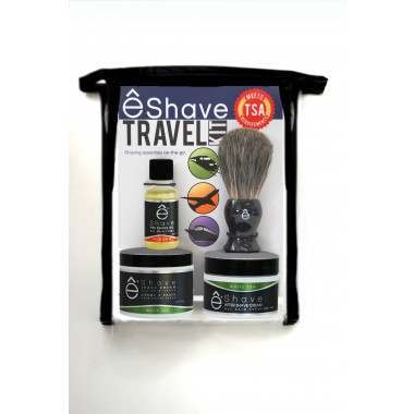 êShave 44119 White Tea TSA Approved Travel Kit