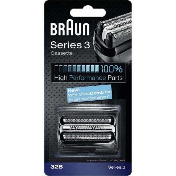 braun 32b series 3 black cassette foil cutter pack. Black Bedroom Furniture Sets. Home Design Ideas