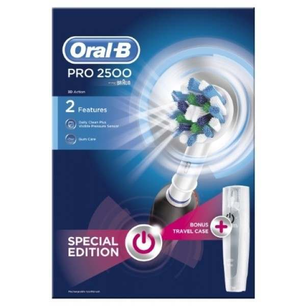 Oral B D501 513 2x Pro 2 2500n Li Ion Black Crossaction