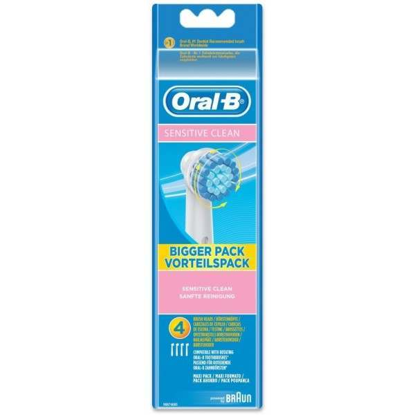 Oral B Ebs17 4 Extra Soft Sensitive 4 Pack Toothbrush Heads