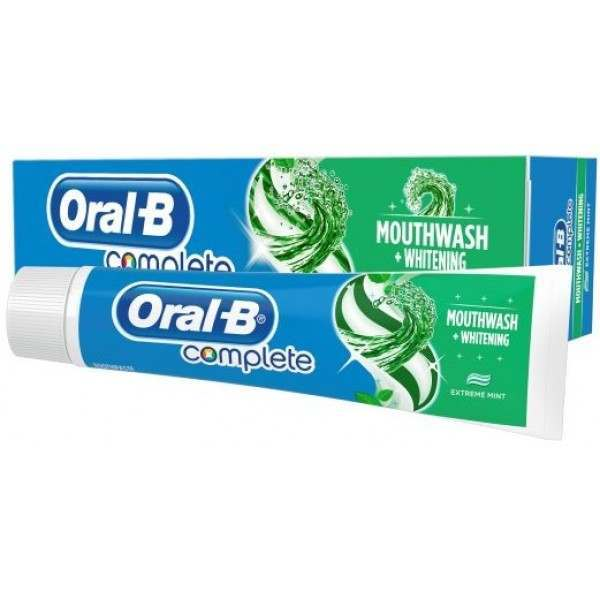 Oral B 81482228 Complete Mouthwash Whitening Toothpaste