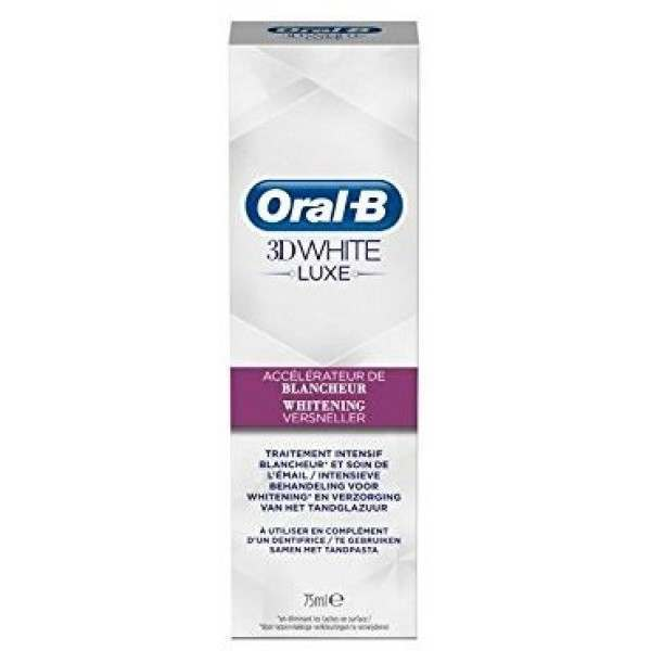 oral b 81585832 3d white luxe whitening accelerator toothpaste. Black Bedroom Furniture Sets. Home Design Ideas