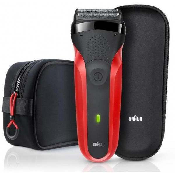 braun 300ts series 3 red toiletry bag gift set. Black Bedroom Furniture Sets. Home Design Ideas