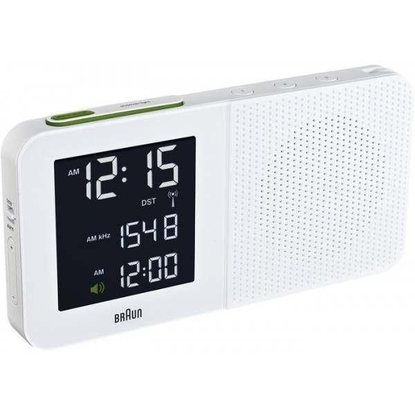 braun bnc010 white global radio controlled alarm clock radio. Black Bedroom Furniture Sets. Home Design Ideas
