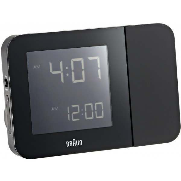 braun bnc015bkuk rc black digital radio controlled projection alarm clock. Black Bedroom Furniture Sets. Home Design Ideas