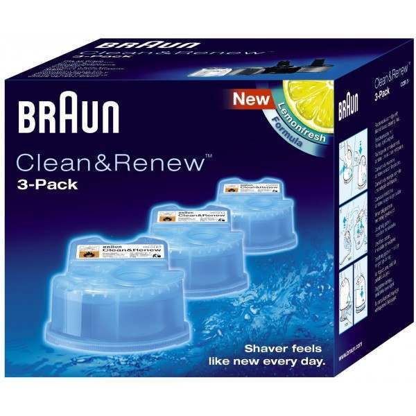 braun ccr3 clean renew pack of 3 cleaning refill. Black Bedroom Furniture Sets. Home Design Ideas
