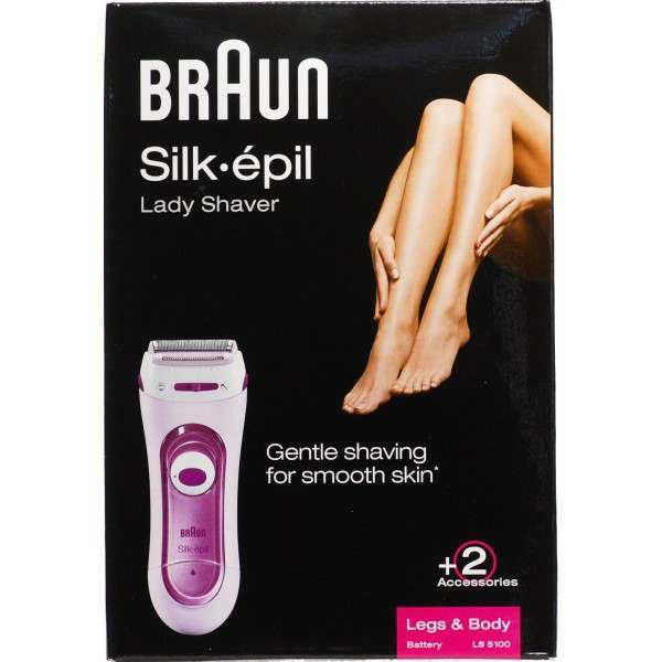 braun ls5100 silk pil legs body battery ladyshave. Black Bedroom Furniture Sets. Home Design Ideas