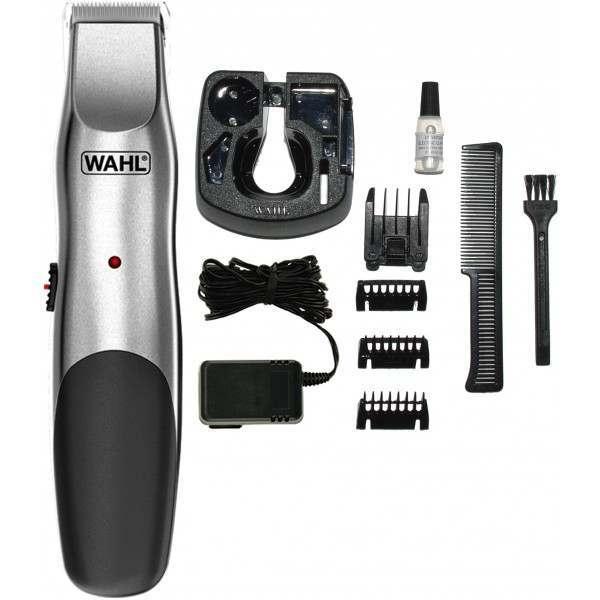 wahl 9918 1117 groomsman elite brushed chrome mains rechargeable beard trimmer. Black Bedroom Furniture Sets. Home Design Ideas
