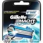 Gillette 81604022 Mach3 Turbo 8 Pack Razor Blades