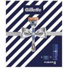 Gillette 81741123 Fusion Razor & Shaving Gel Gift Set