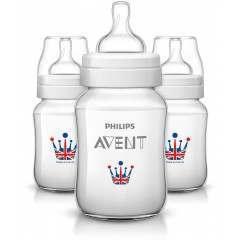 Philips SCF573/35 Royal Classic+ 260ml/9oz Triple-Pack Baby Bottle