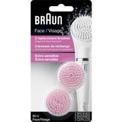 Braun 80-s Face Extra Sensitive 2 Pack of Brush