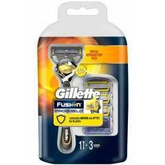 Gillette 81558649 Fusion Proshield pack of 3 Blades with Razor