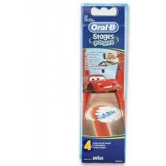 Oral-B EB10-4 Cars & Planes 4 Pack Toothbrush Heads