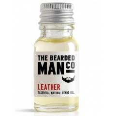 The Bearded Man Co. 10ml Leather Essential Natural Beard Oil