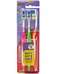 Colgate TOCOL621 ZigZag Triple Pack Medium Toothbrush Heads