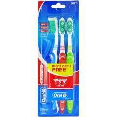 Oral-B TOORA169 All Rounder 123 Clean Soft Triple Pack Toothbrush