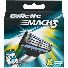 Gillette 81604016 Mach3 8 Pack Razor Blades