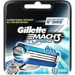 Gillette 81604022 Mach3 Turbo 8 Pack Razor Blades