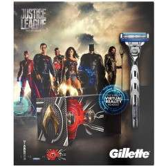 Gillette 81628084 Justice League Mach3 Turbo Gift Set