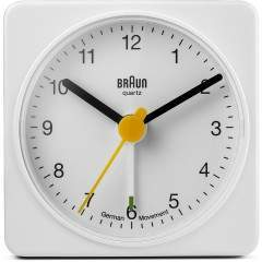 Braun BNC002 White Square Travel Alarm Clock
