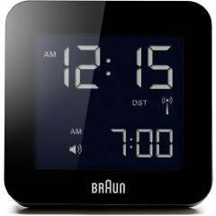 Braun BNC009 Black Square Global Radio-Controlled Alarm Clock