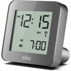 Braun BNC009 Grey Global Radio Controlled Alarm Clock