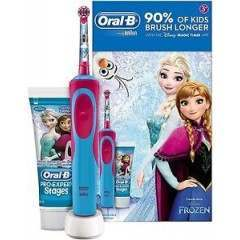 Oral-B 81672476 Stages Vitality Frozen Pro-Expert Stages Toothpaste & Rechargeable Electric Toothbrush