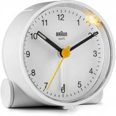 Braun BC01W Classic Analogue White Alarm Clock