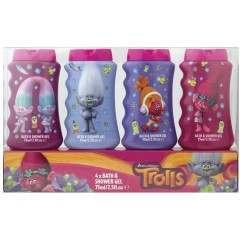 Trolls GSKITR0013 4 Piece 75ml Bath & Shower Gel Gift Set